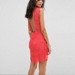 Free People lace open back dress